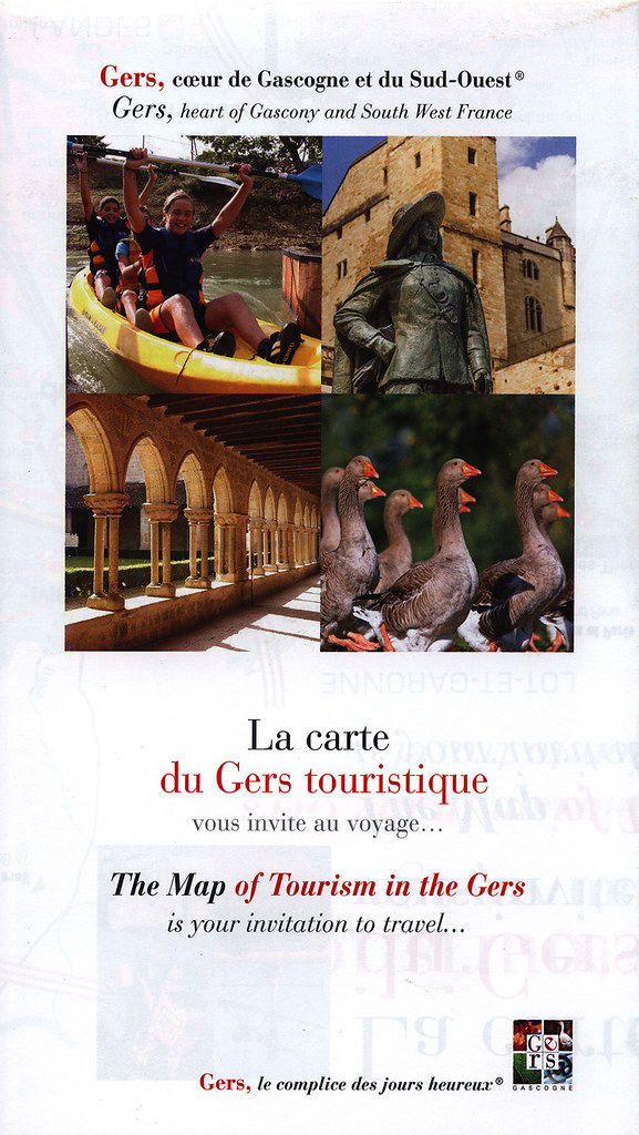 Gers Heart Of Gascony And South West France The Map Of T