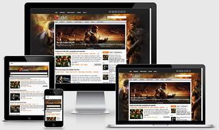 Responsive GameFusion Blogger Template | by PremiumBloggerTemplates.com