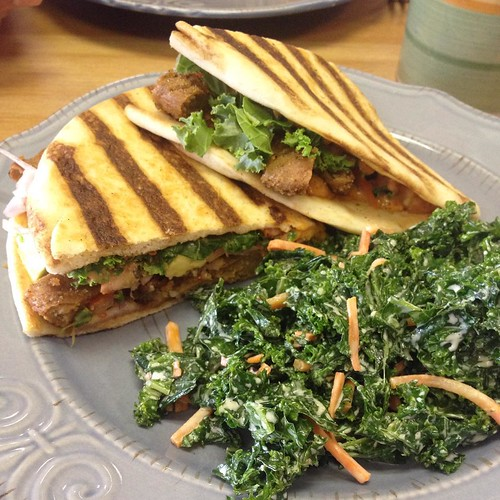 My husband and I were child-free for the afternoon so we had a delicious lunch at Killer Vegan in Union, NJ. I had the Killer Panini for the first time. It was so delicious and reminded me of the seitan wraps I made for road trips. My husband had the Guns | by jenofur