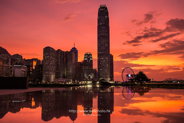 Red Sky :: HKSAR Gov headquarter, Hong Kong