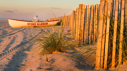 ocean vacation beach sunrise boat newjersey unitedstates nj stoneharbor jerseyshore dunefence