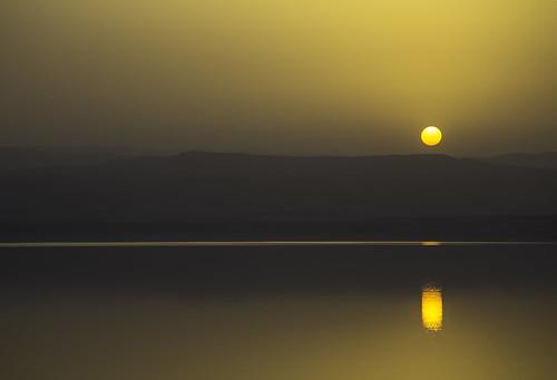 sunset sun mountains reflections westbank jordan spa deadsea