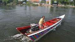 Long-tail boat, Khwae Yai River, Kanchanaburi, Thailand