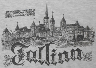 Tallinn - Shirt with Tallinn in 1683