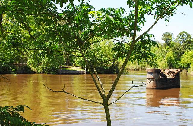 Bridge Supports, White Rock Creek, Trinity County, Texas 1404251329