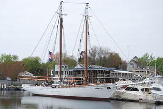 The Spirit of Massachusetts is a 125-foot schooner