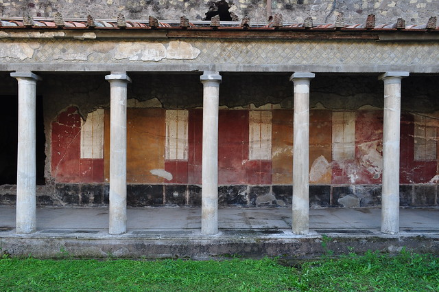 Galerie des Thermes, Villa de Poppée, Oplontis, Torre Annunziata, Campanie, Italie.