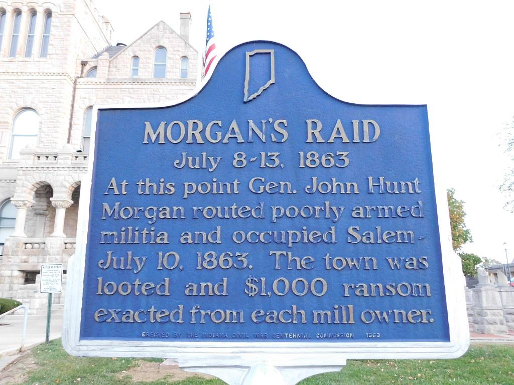 Morgan's Raid Historic Marker