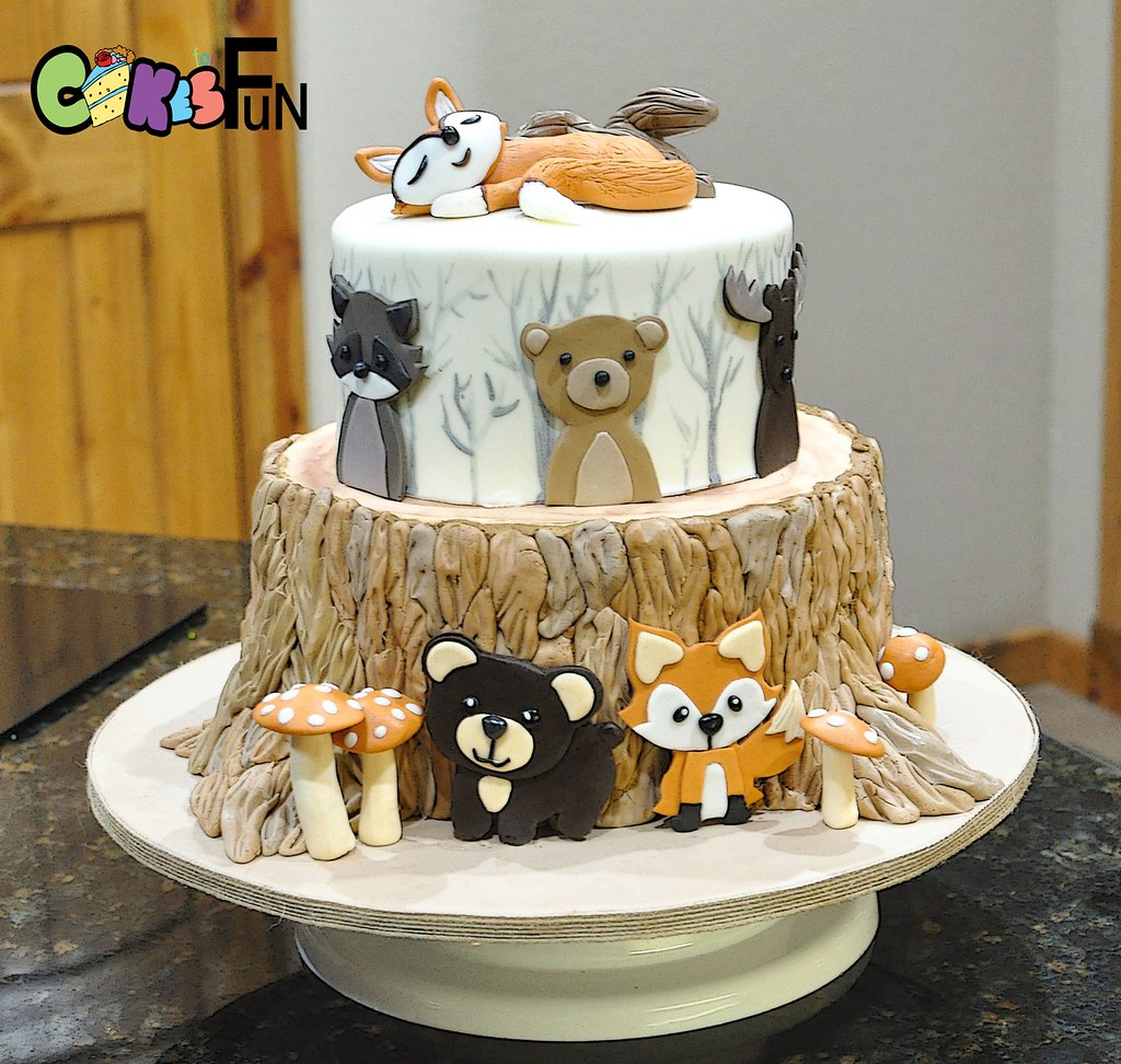 Woodland Creatures Baby Shower Cake Bsheridan1959 Flickr