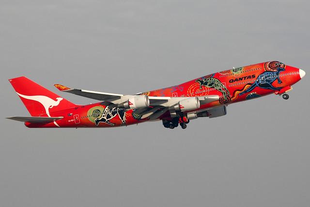 Qantas | Boeing 747-400ER | VH-OEJ | Wunala Dreaming | Hong Kong International