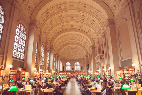 Boston Public Library Reading Room | by Tony Webster