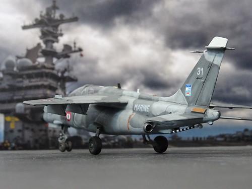 1:72 Dassault/Dornier 'Alpha Jet Lancier M'; aircraft '31' of the Aéronavale's (French Navy) Escadrille 59S; Base d'aéronautique navale d'Hyères, 1996 (Whif/modified Heller kit)   by dizzyfugu