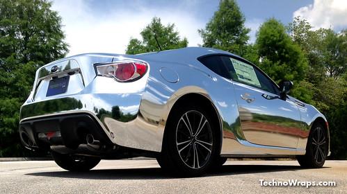 Chrome Subaru car color change wrap