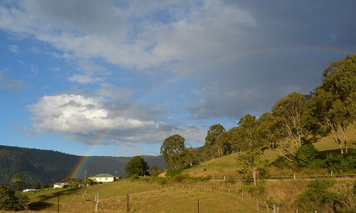 road house nature clouds landscape shower countryside rainbow scenery day cloudy australia nsw showers northernrivers richmondvalley australianweather oldgrevillea