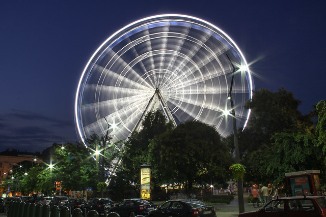 Budapest Eye at night 5