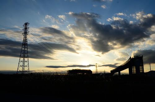 tower japan construction power junction line expressway kanagawa ebina