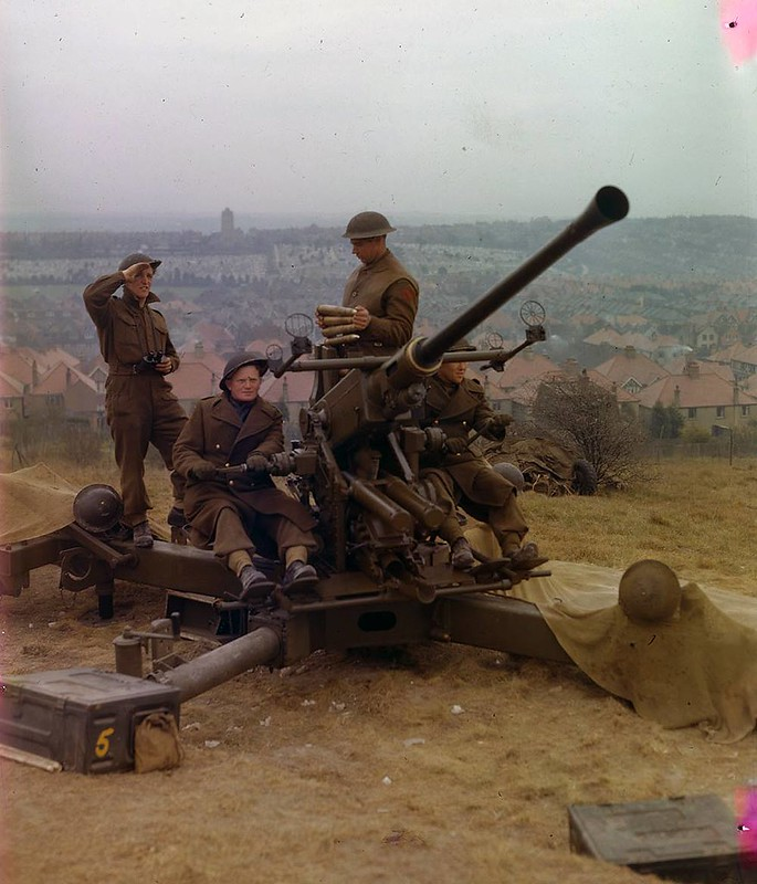 Bofors della 1st Canadian Division in Inghilterra