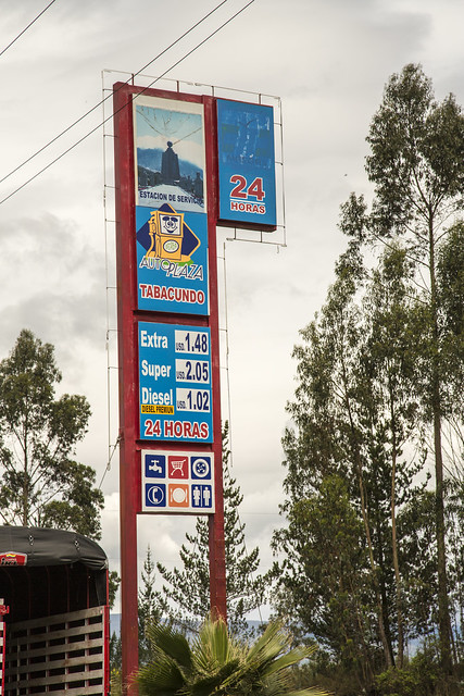Look at the Price of Gas in Ecuador