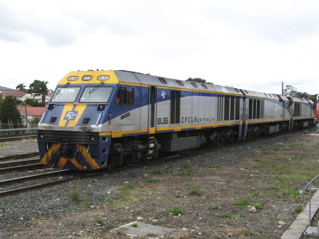 EL55, EL63 and EL61 at Marrickville, 11.7.2007 by John Ray