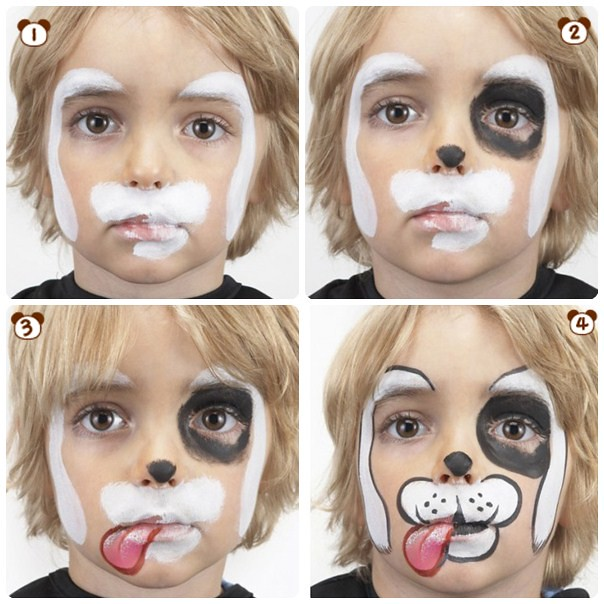 Halloween Makeup For Kids Boy.Halloween Makeup Ideas Kids Boy White Puppy Step By Step