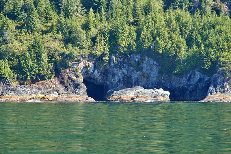 Sea Caves near Kyuquot Sound, Vancouver Island, British Columbia, Canada. Photo: Santa Brussouw.