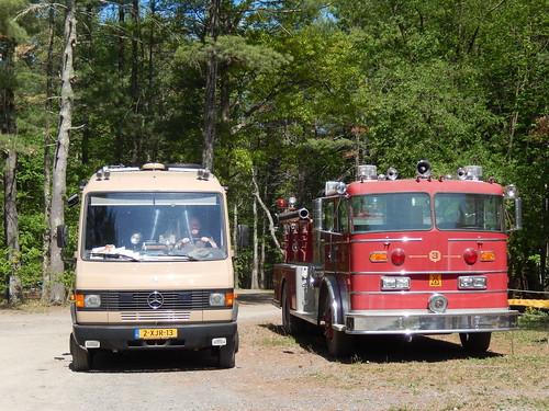 Two trucks op campground Saugerties