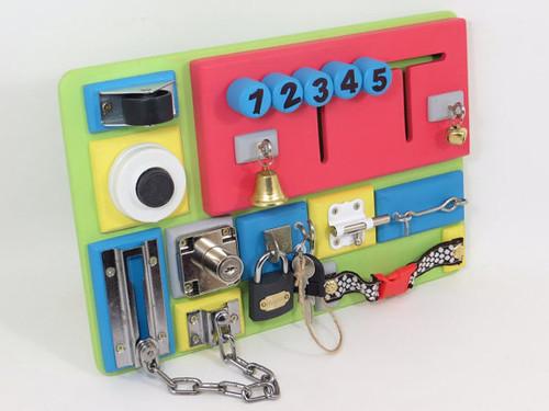 Busy board by Linearahandmade.etsy.com