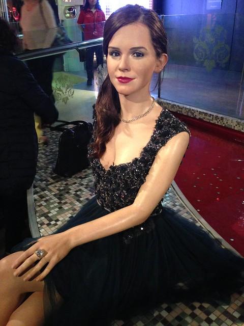 Emma Watson figure at Madame Tussauds London