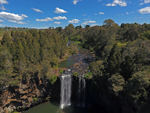 dangarfalls waterfall dji