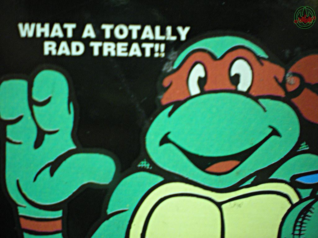Blue Bunny :: Teenage Mutant Ninja Turtle 'Face' Bars - vendor sticker v (( 1994 )) by tOkKa