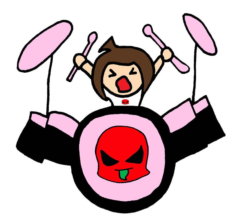 B Pop Plays Drums Supa Pewee Kids Punk Pink Bad Girl Pop A Flickr