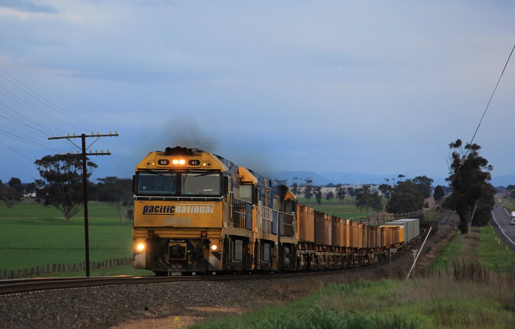 NR41 NR15 and NR24 make easy work of a loaded PW4 loaded steel train at Dahlen by bukk05