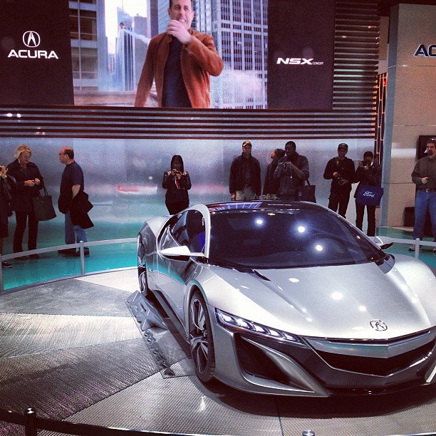 Acura NSX Concept Displayed At The New