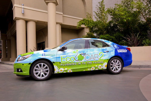The wrapped 2013 Chevy Malibu Photo