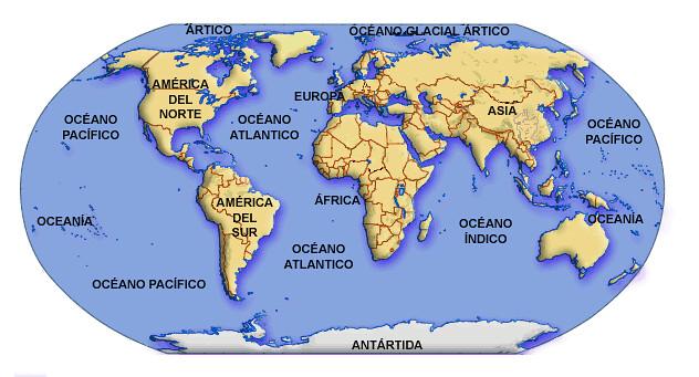 Terra Continentes E Oceanos