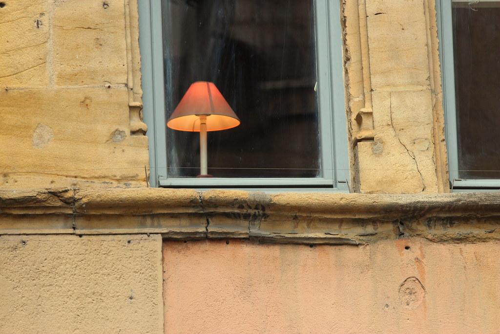 Behind  the window