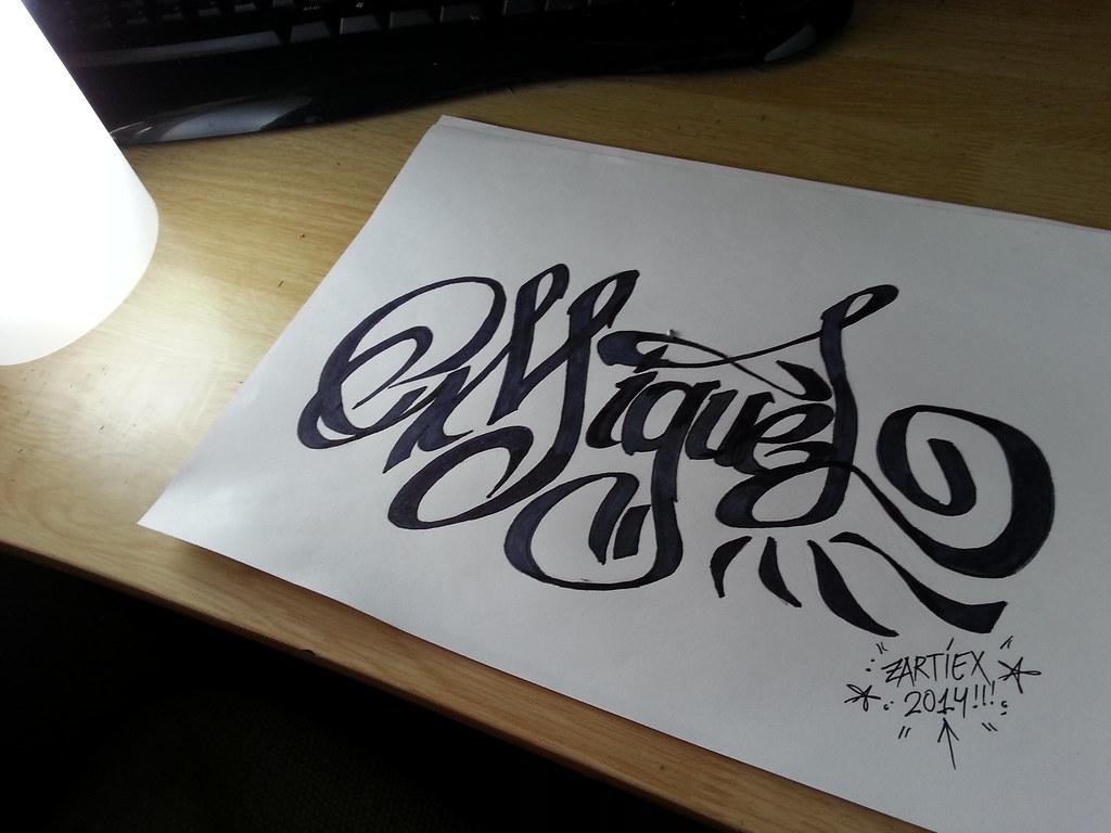 como hacer letras de graffitis 3d zartiex arte  2