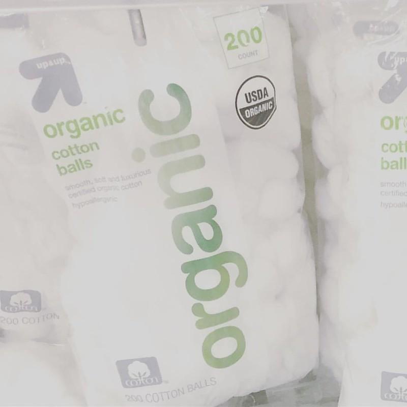 We spotted #organic cotton balls at @target. #beauty #skincare #beautycare #women #womensfashion #makeup #makeupartist #cotton #shopping #shop #organicbeauty #safe #bodycare #sustainability #sustainable #sustainablefashion