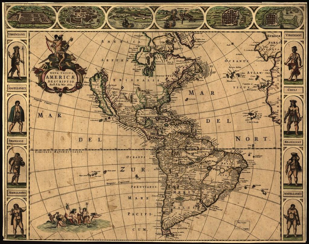 The New World - circa 1600   Original at Library of Congress ...