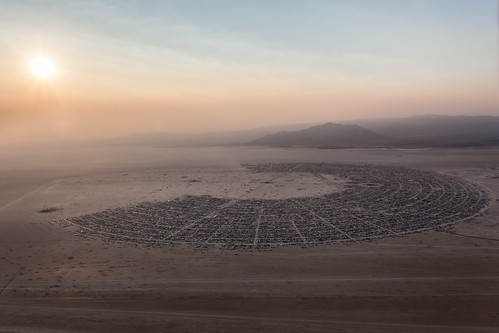 Aerial Photo Of Black Rock City At Sunrise - Burning Man 2013 | by Duncan Rawlinson - Duncan.co