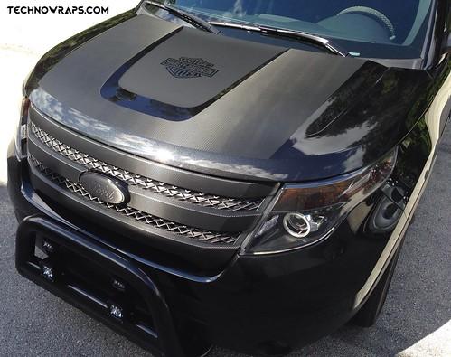 Black carbon fiber wrap