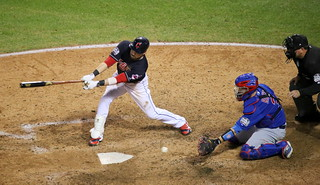indians second baseman Jason Kipnis strikes out in the seventh inning.