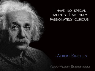 """I have no special talents. I am only passionately curious.""- Albert Einstein 