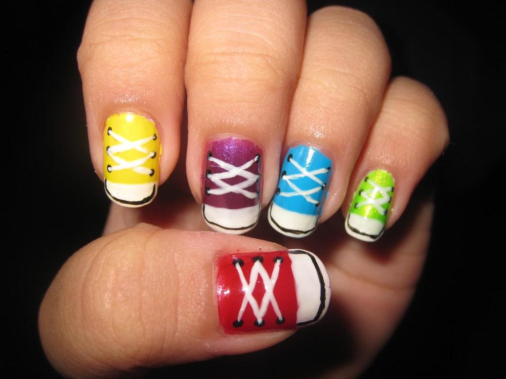 33a7d82e16e5 ... Nail Art Design Converse