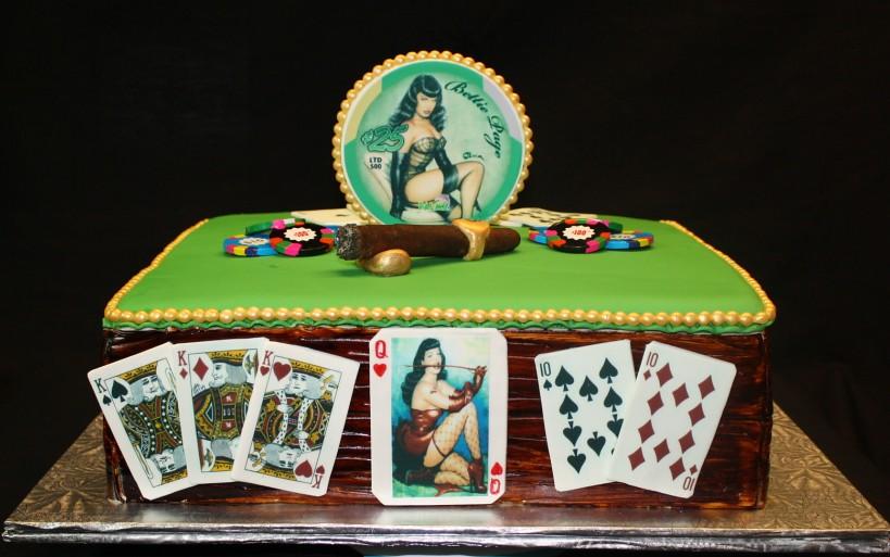 Super Pinup Girls Casino Birthday Cake The Cake Zone Fl Flickr Personalised Birthday Cards Arneslily Jamesorg