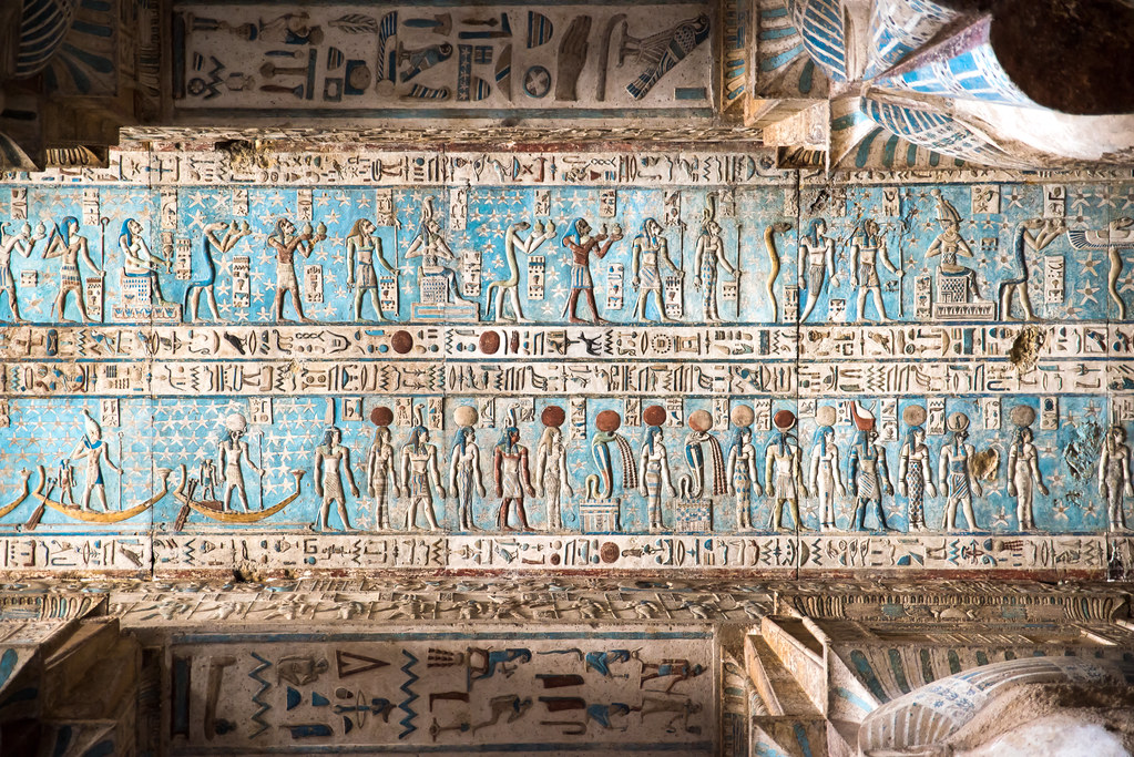 Dendera Temple 17 The Ceiling Of The Hathor Temple Has