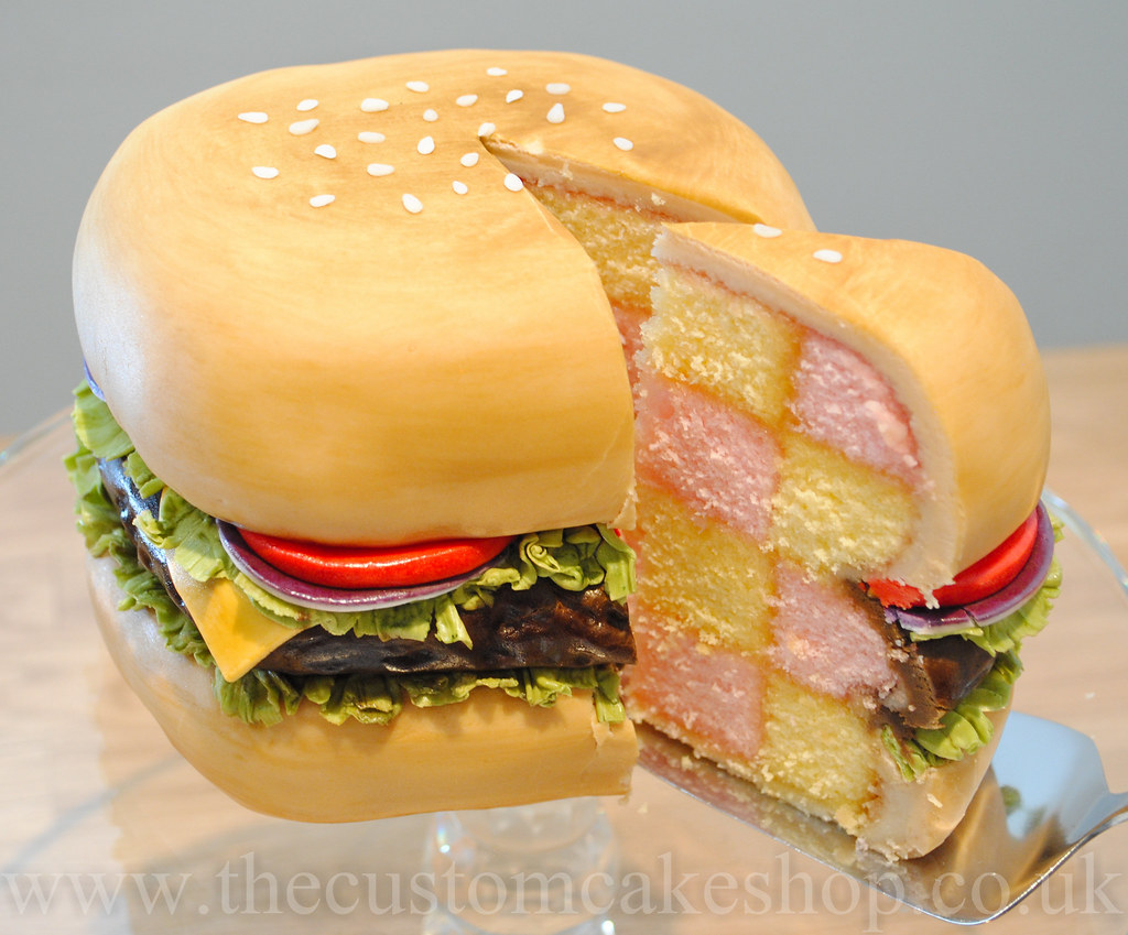 Miraculous Beef Burger Battenburger Battenberg Birthday Cake Flickr Funny Birthday Cards Online Inifofree Goldxyz