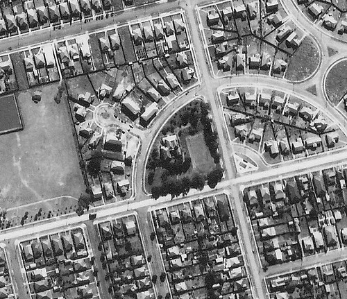 Flavelle Home 'Wellbank', North Strathfield 1951 - Sydney airphoto detail