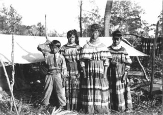 Women and boy from the Doctor Tommy Jimmy family near Kendall, Florida