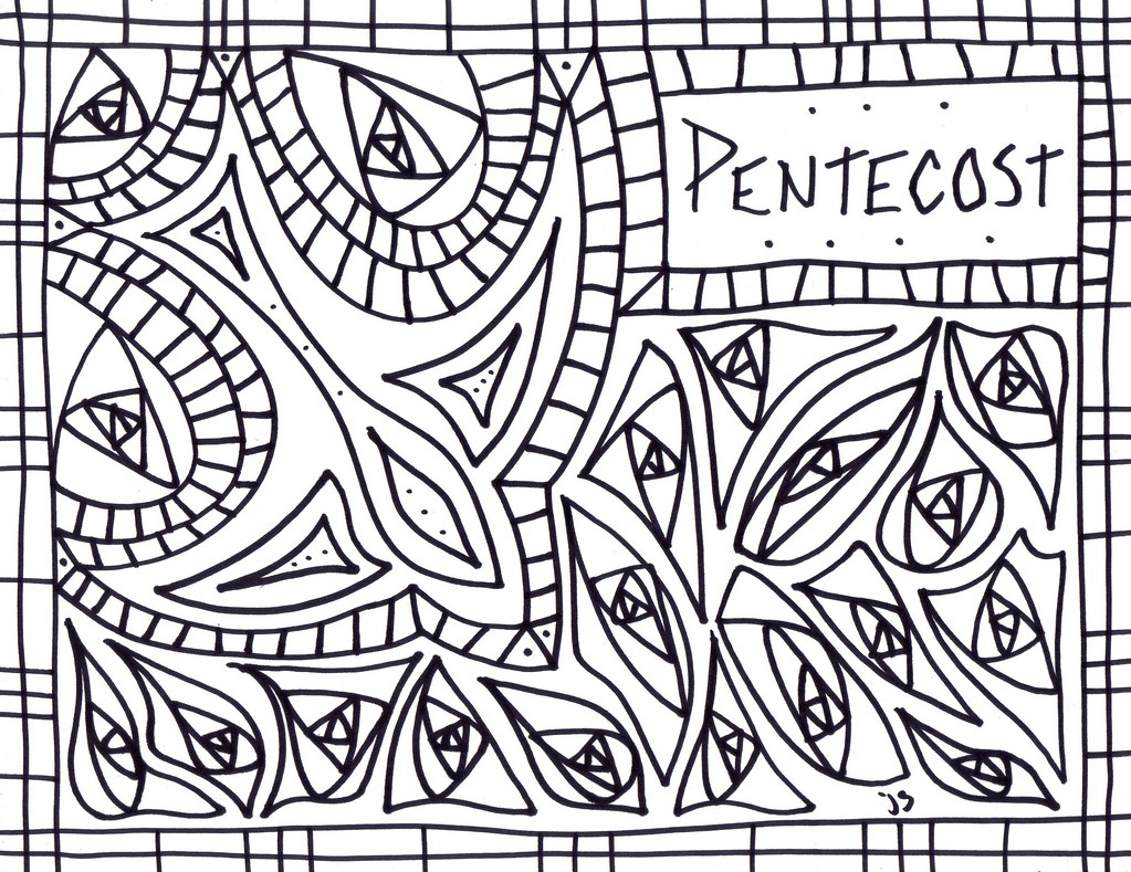 Pentecost Coloring Sheet Pentecost Coloring Page Flickr